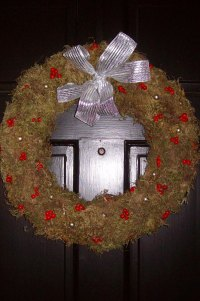 Martha inspired holiday wreath.