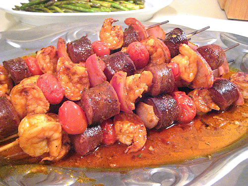 Shrimp and Sausage Skewers with Smoked Paprika Glaze ...