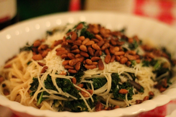 Capellini with Kale, Lemon, & Pecorino