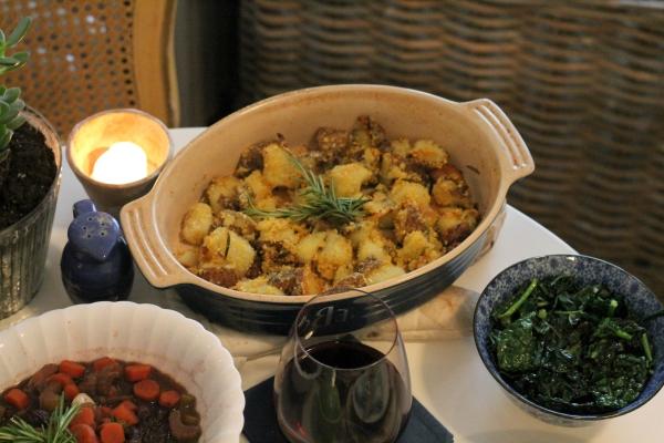polenta crusted potatoes