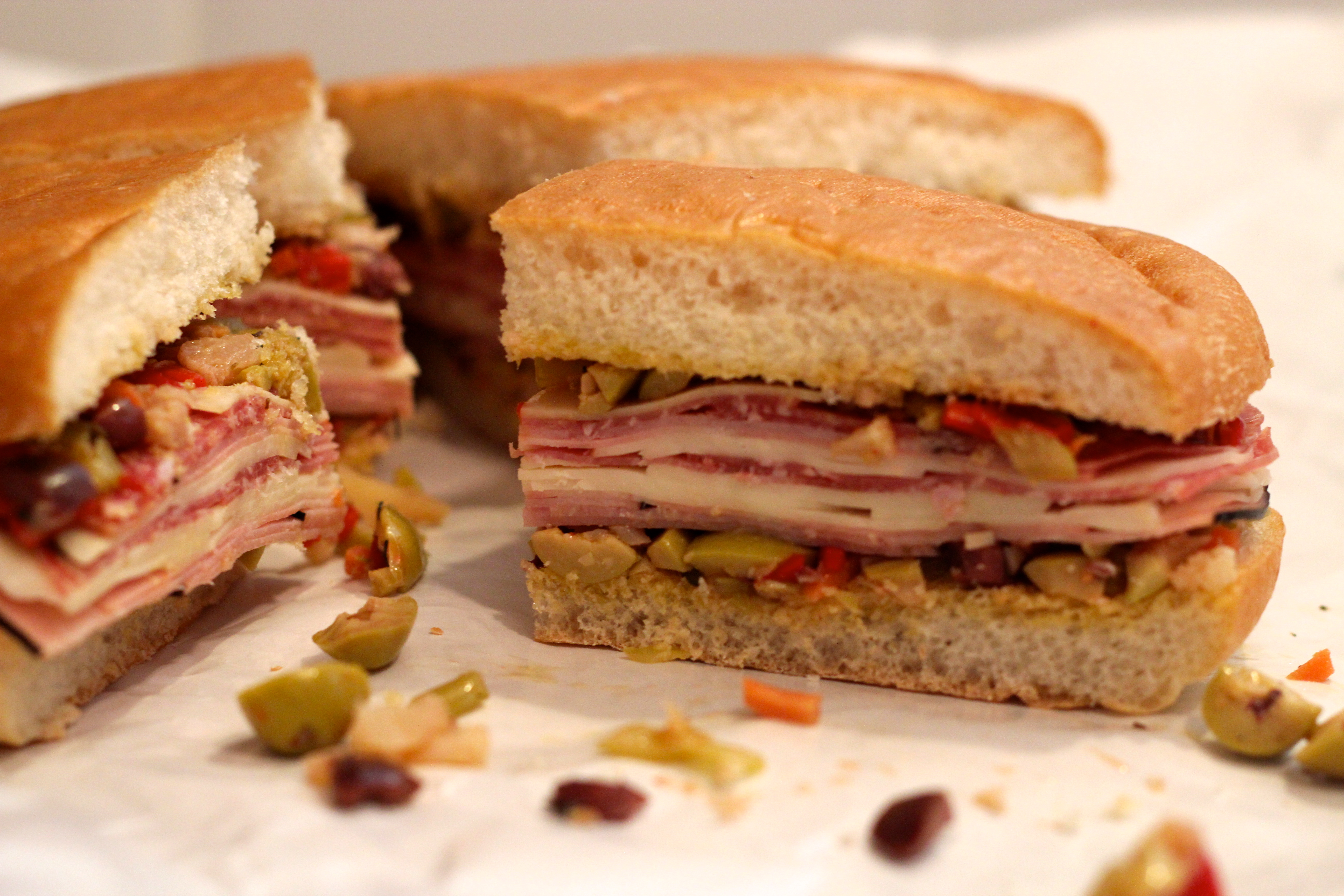 Muffuletta Sandwich and a Picnic